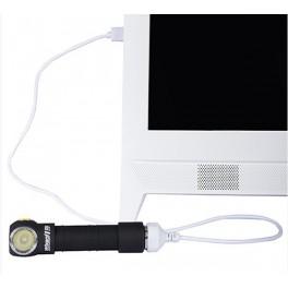 Armytek Wizard v3 XP-L (White). Silver + Bateria + Cable Cargador